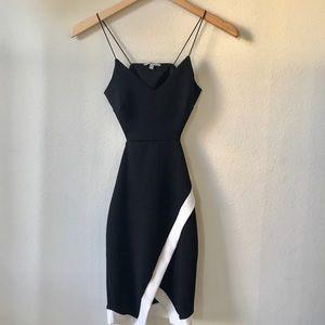 XS Charlotte Russe Black Asymmetrical Dress